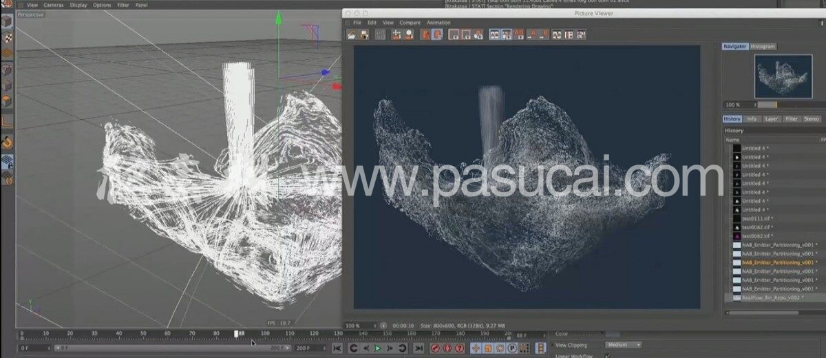 爬素材–中文汉化版-KK粒子渲染器Thinkbox Krakatoa C4D 2.9.6 Winhack版支持 R19 / R20 / R21
